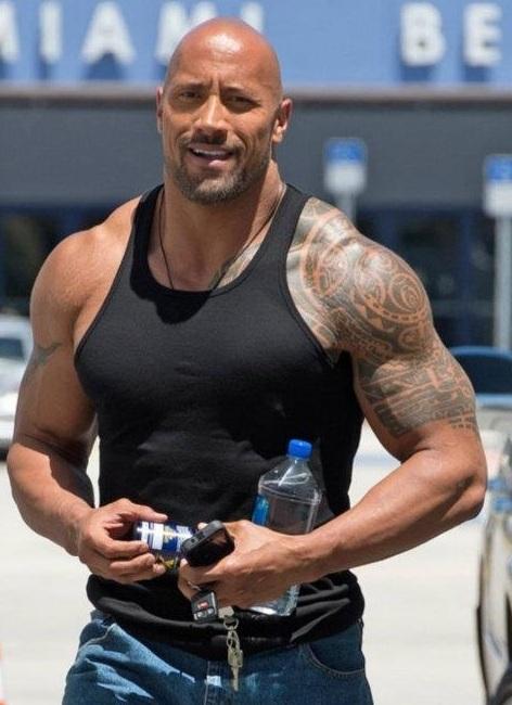Dwayne Johnson Biceps Size