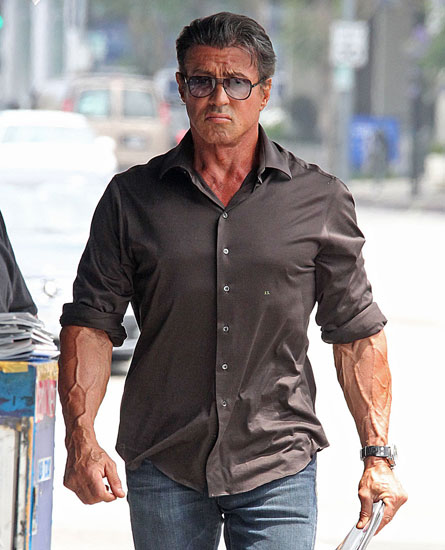 Sylvester Stallone Biceps Size